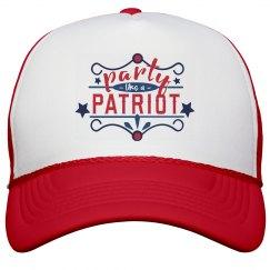 Proud, Patriotic Partier Cap