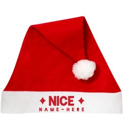 Nice List Custom Santa Hat