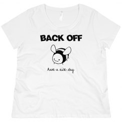 BACK OFF Have a Nice Day Plus Size Scoopneck T-Shirt