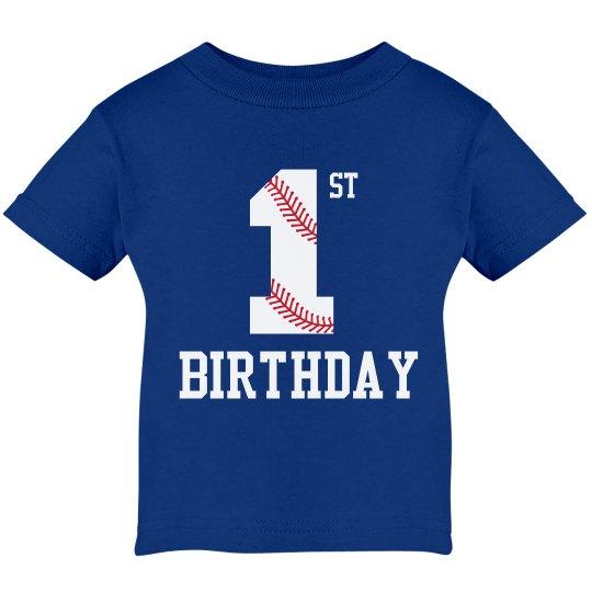 1st Birthday Baseball Shirt