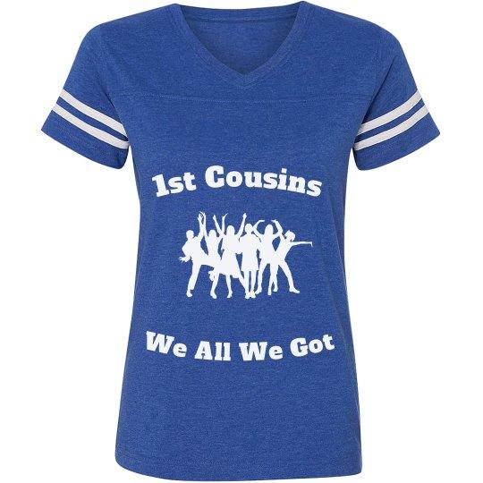 1st cousins Jersey shirt blue