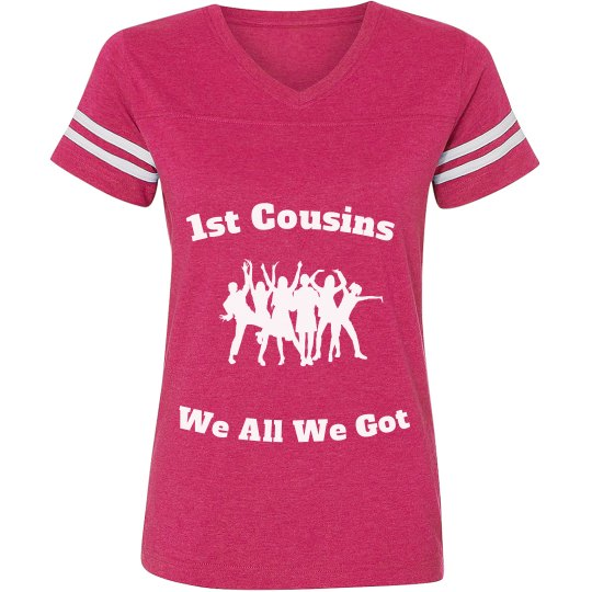 1st cousins Jersey shirt pink