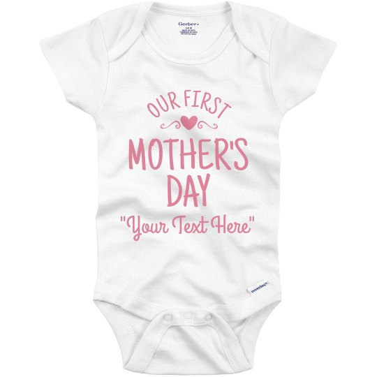 1st Mother's Day Custom Baby Name