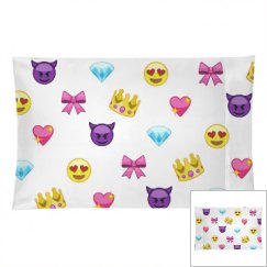 Cute Emoji All Over Print Pillow