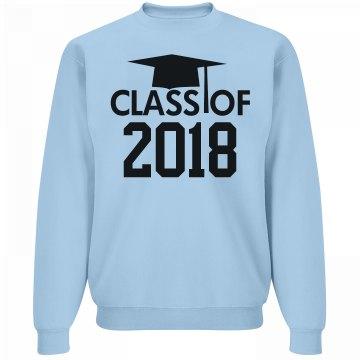 2018 Grad Cap Sweatshirt
