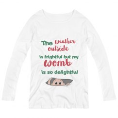 Maternity Winter/Christmas Long-Sleeve Shirt