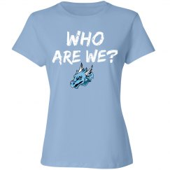 #16 Ladies-Relaxed Fit Tee-Port&Co. Brand-Who R We?