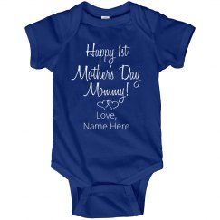 Custom Name Mothers Day Onesie