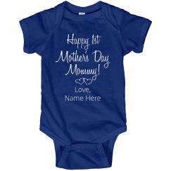 Custom Name Mothers Day Bodysuit
