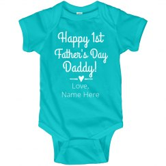Custom Name First Father's Day