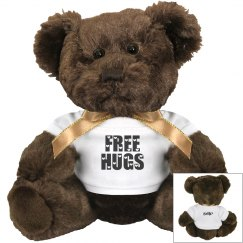 EBIP FREE HUGS CHOCOLATE TEDDY BEAR