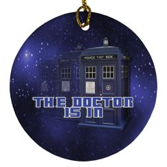 The Doctor Police Box Round Ornament