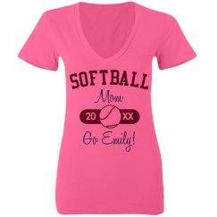 Neon Softball Mom Ball