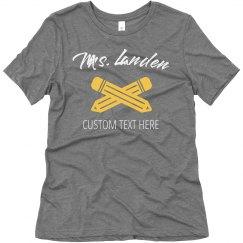 Custom Teacher Back to School Shirts