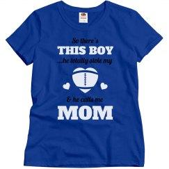 Plus Size Football Mom Heart Tee