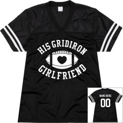His Gridiron Football Girlfriend Custom Mesh Jersey