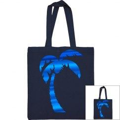 Blue Metallic Palm Tree