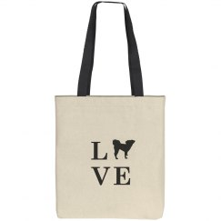 Love my Dog Canvas Tote
