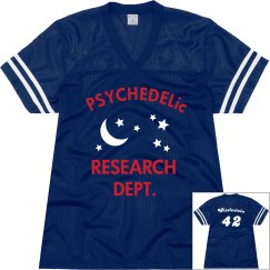 Blue psychedelic jersey