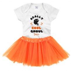Really Cool Ghoul Cutest Baby Onesie & Tutu Halloween