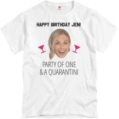 Custom Photo Quarantini Birthday