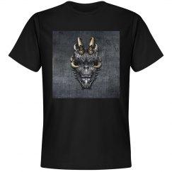 Gray background skull
