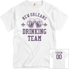 Custom Mardi Gras Drinking Team