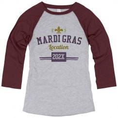 Custom Mardi Gras Location Tee