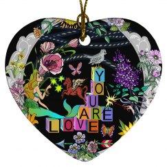 You Are Love Mermaid Heart