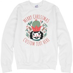 Christmas Cactus Nutcracker Sweater