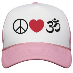 Peace Love Yoga Hat