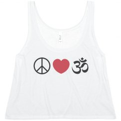 Peace Love Yoga Tank