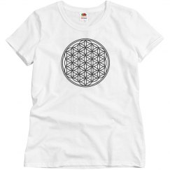 Flower Of Life Solid Black