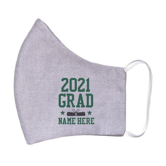20XX Grad Custom Name Mask