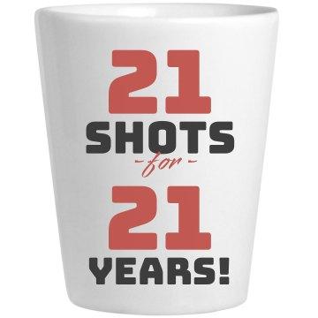 21 Shots Shotglass