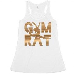 Gymnastics Rat Cute Metallic Design