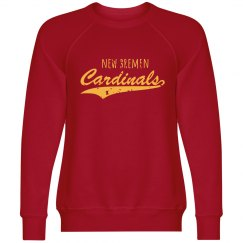 cardinal crew neck sweatshirt