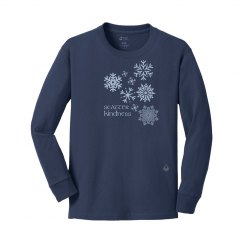 Snowflakes youth navy