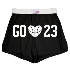 Cute Custom Number Basketball Girlfriend Shorts!