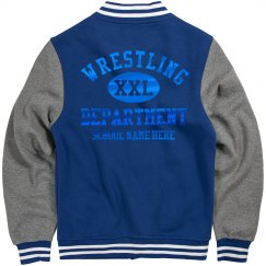 Blue Metallic Custom Wrestling
