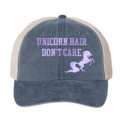 Unicorn hair hat - grey