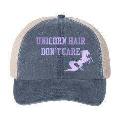 Unicorn hair hat - grey