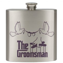 The Groomsman Hip Flask