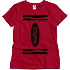 Red Crayon Shirt Costume