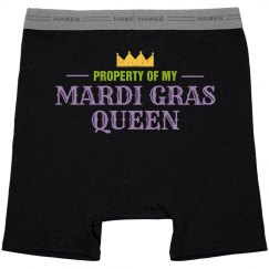 Mardi Gras Queen Property Black