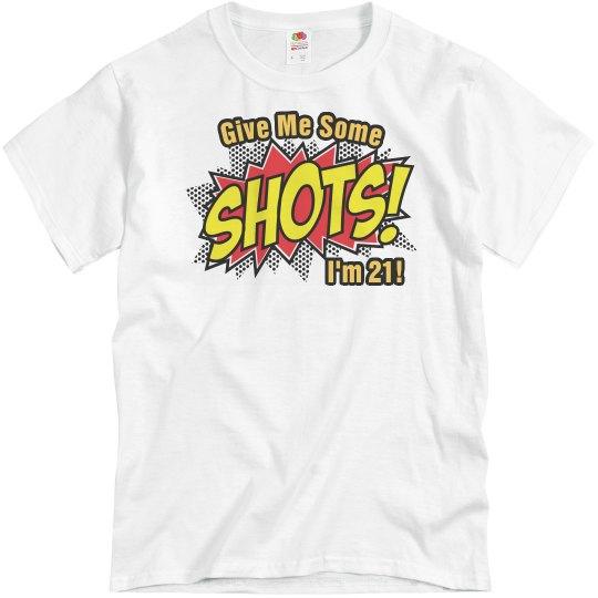 21st Birthday Shots Basic Unisex Midweight Cotton T Shirt
