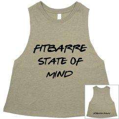 FITBARRE STATE OF MIND TANK- OLIVE (BLACK)