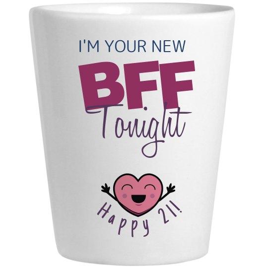 21st Bday BFF shotglass