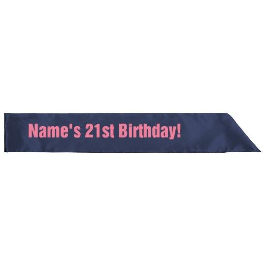 21st Birthday Party Sash