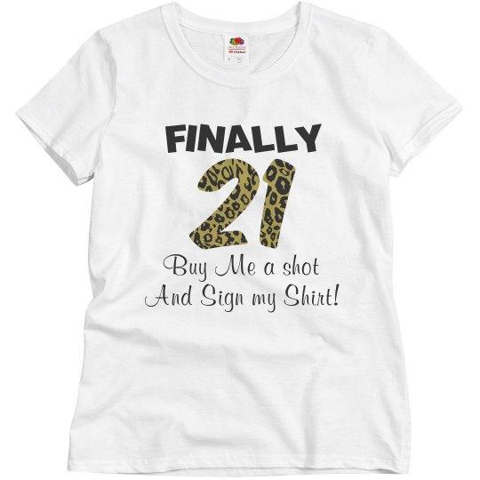 21st birthday shirt